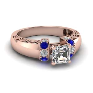 Sapphire Side Stone Ring