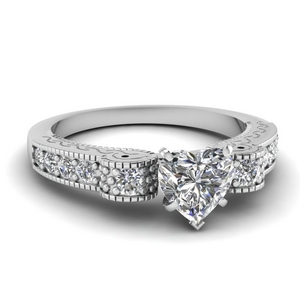 Pave Diamond Antique Ring