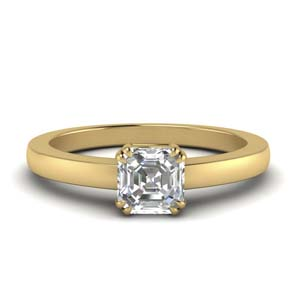 Dual Prong Solitaire Ring