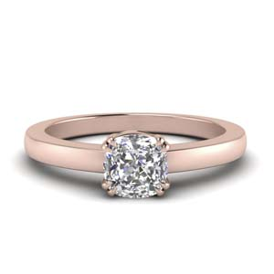 Rose Gold Double Prong Ring