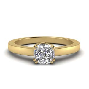 Gold Double Prong Diamond Ring