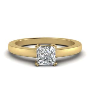 Princess Cut Single Stone Ring