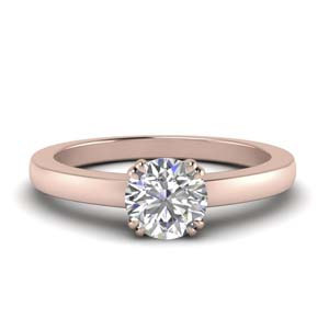 Double Prong Solitaire Ring