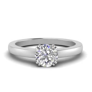 Round Diamond One Stone Ring