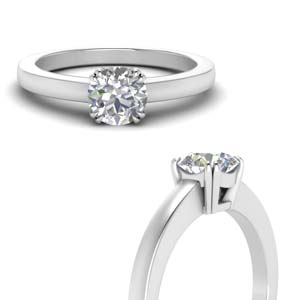 Double Prong 2 Carat Diamond Ring