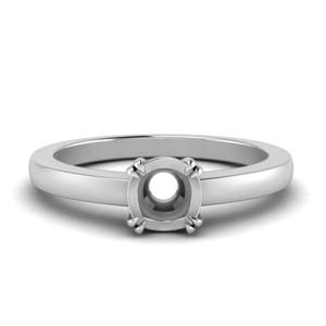 Double Prong Solitaire Ring Setting