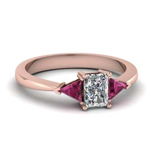Trillion Tapered Engagement Ring