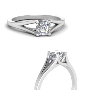 Asscher Cut Trellis Solitaire Ring