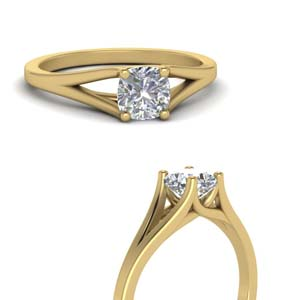 Split Shank Cushion Diamond Ring