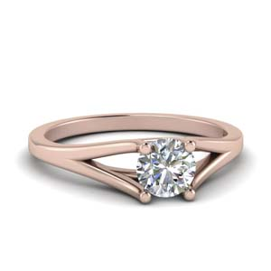 Trellis Solitaire Diamond Ring