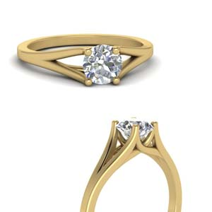 Split Shank 1 Carat Engagement Ring