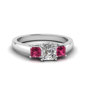 White Gold Pink Sapphire Ring