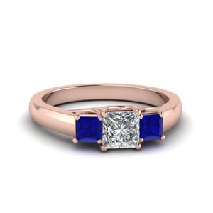 Sapphire Princess Cut Diamond Ring
