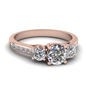 2 Carat Diamond Trellis 3 Stone Ring