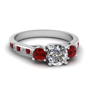 Channel Set 3 Stone Ring 2 Ct.