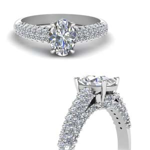 Micropave Diamond Ring