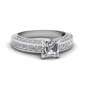 1.50 Ct. Asscher Cut Pave Ring