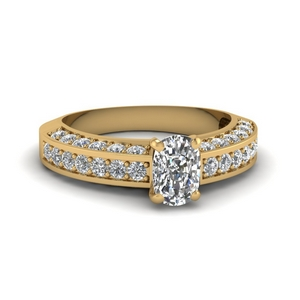 Cushion Diamond Pave Accent Ring