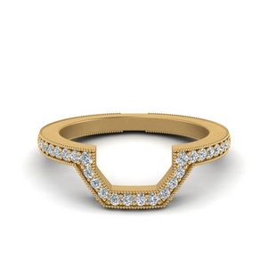 Vintage Curved Diamond Band