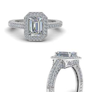 Halo Diamond Vintage Ring