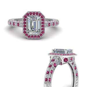Pink Sapphire Antique Ring