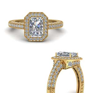 Radiant Vintage Moissanite Rings