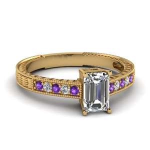 Gold Purple Topaz Ring