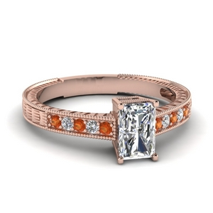 Classic Milgrain Diamond Ring