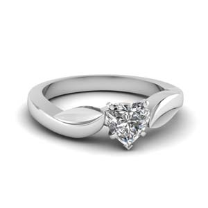 Classic Heart Shaped Diamond Ring