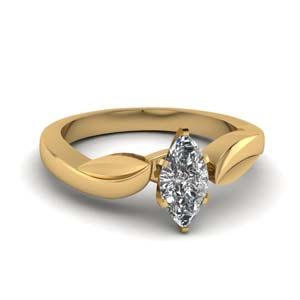 Marquise Shaped Nature Inspired Ring