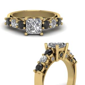 Gold Square Diamond Ring
