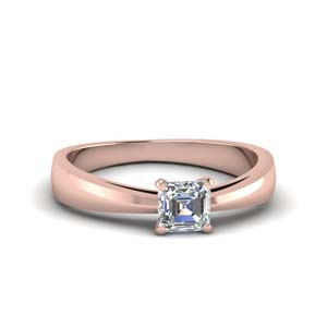 0.50 Ct. Asscher Cut Solitaire Ring