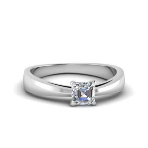 0.50 Ct. Asscher Diamond Solitaire Ring