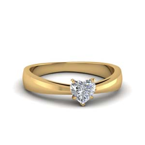 Heart Shaped Tapered Ring