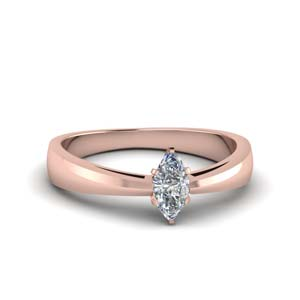 Rose Gold One Stone Ring