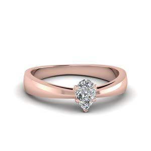 Pear Shaped Solitaire Rings
