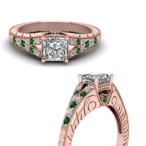 Filigree Milgrain Engagement Ring