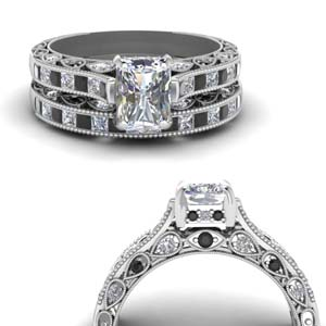 Cathedral Filigree Wedding Set