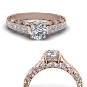 Cathedral Channel Diamond Ring
