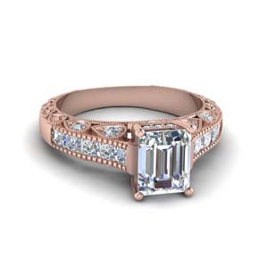 Emerald Cut Diamond Vintage Ring