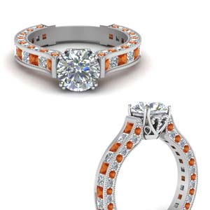 White Gold Cathedral Diamond Ring