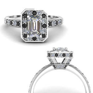 Pave Wrap Diamond Engagement Ring