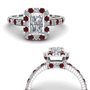 Hidden Halo Ruby Ring