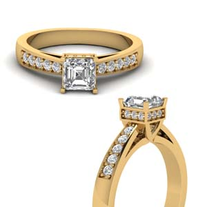 Tapered Pave Diamond Ring