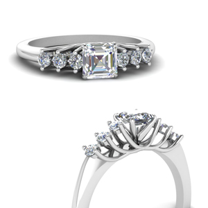 0.50 Ct. Asscher Diamond Ring