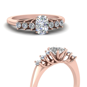 Cushion Cut Side Stone Rings