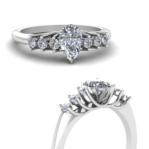 Platinum Half Carat Floating Ring
