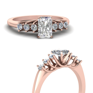 Radiant Diamond Floating Ring