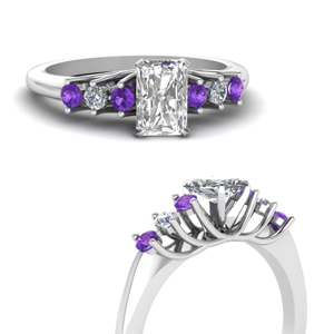 Radiant Flower Style Purple Topaz Ring