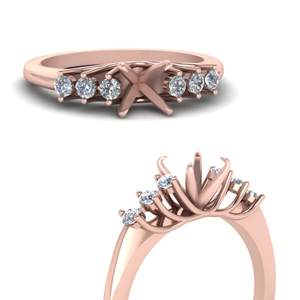 Rose Gold Mounting Ring